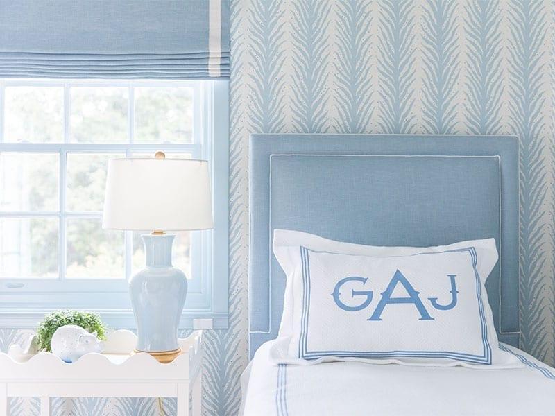Blue Bedroom Design by Amal Kapen