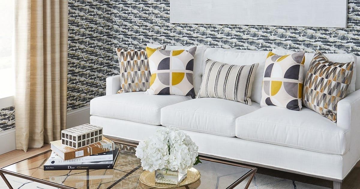 Couch setup - Photo Credit: Fabricuts