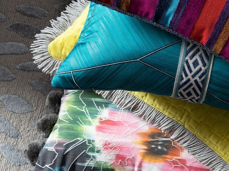 printed throw pillows