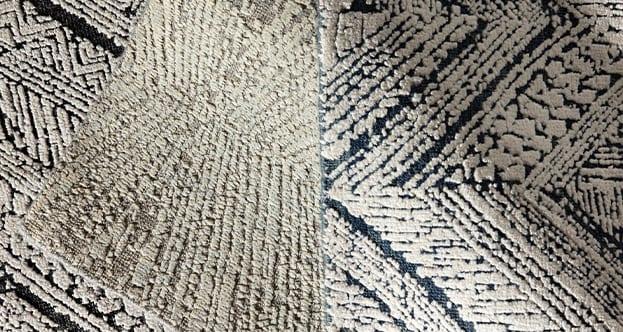 Flatweave Wool and Raised Silk