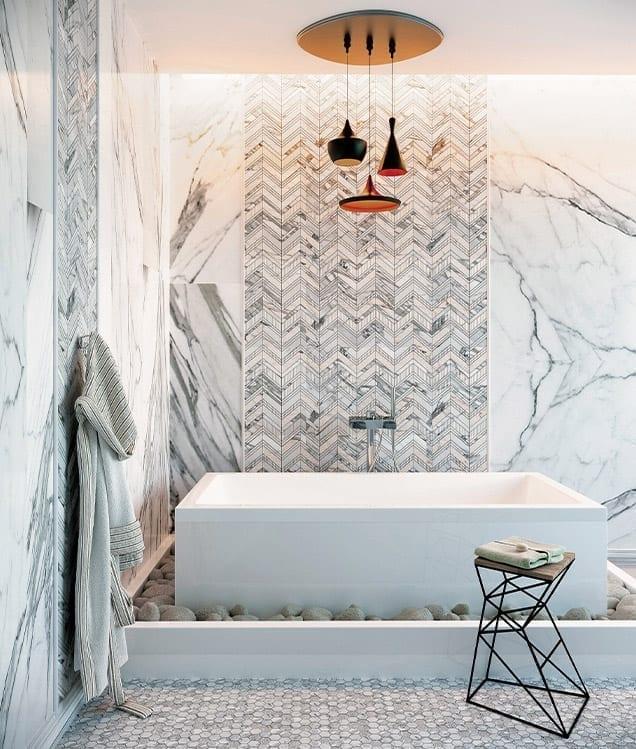 MIR Mosaic - Bali Indi Carrara and Balian Carrara