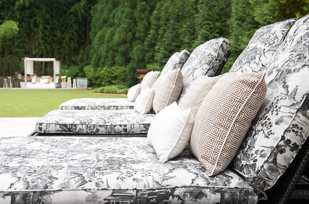 floral pattern outdoor pillows